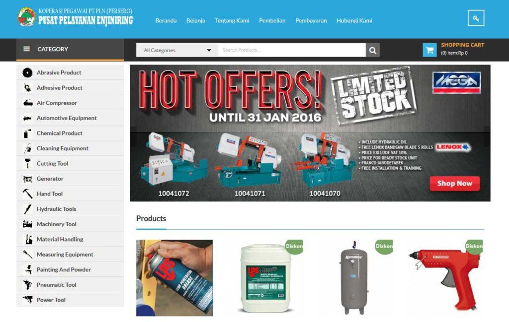 contoh tampilan website toko online